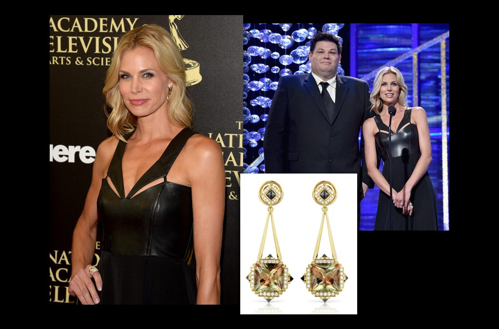 Brooke Burns Wears KAT FLORENCE™ Zultanite® Earrings At The Daytime Emmy Awards