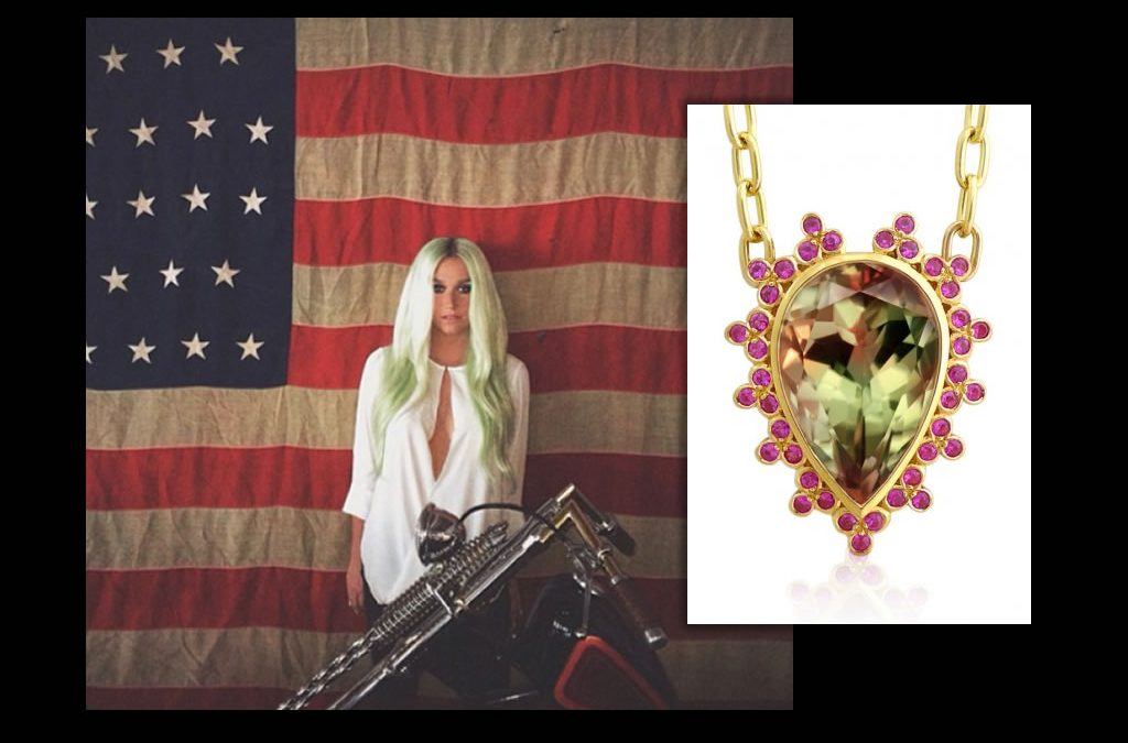 Kesha Wears Daniel Gibbings' Zultanite® Necklace