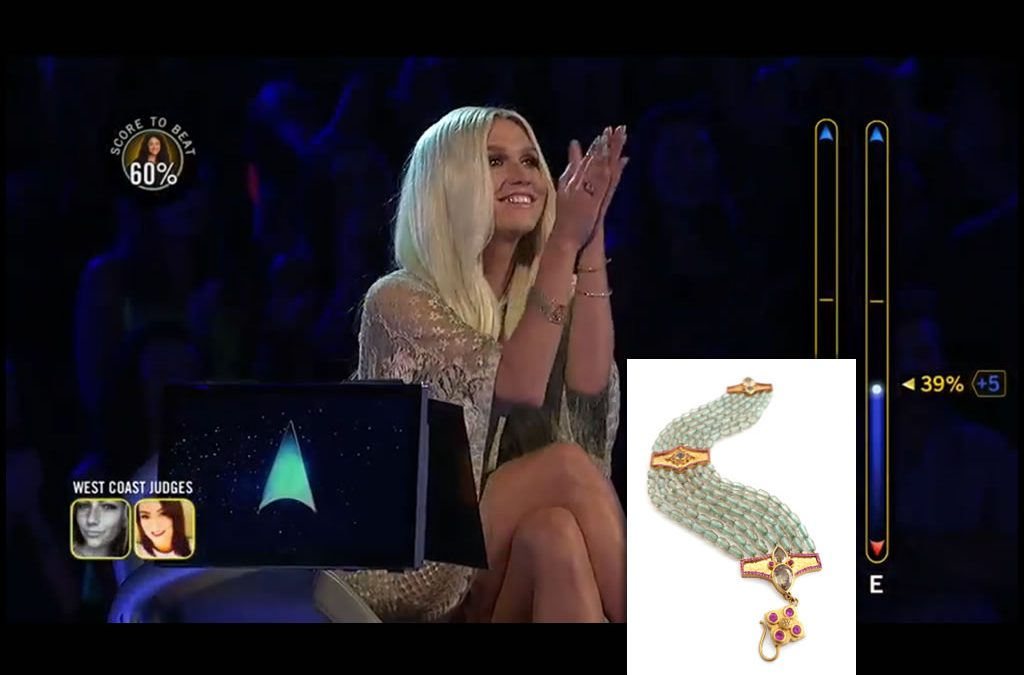 Kesha Wears Daniel Gibbings' Zultanite® Bracelet On 'Rising Star'